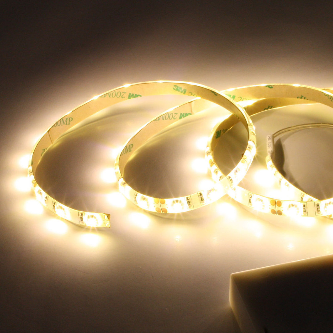 led band strip mit batterie halter einfarbig 4 5 v unterbau 50cm warmweiss 3000k led online shop. Black Bedroom Furniture Sets. Home Design Ideas