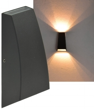 "LED Wandleuchte ""Hilera 6"" IP44, 2x3W, 2900K, warmweiss"