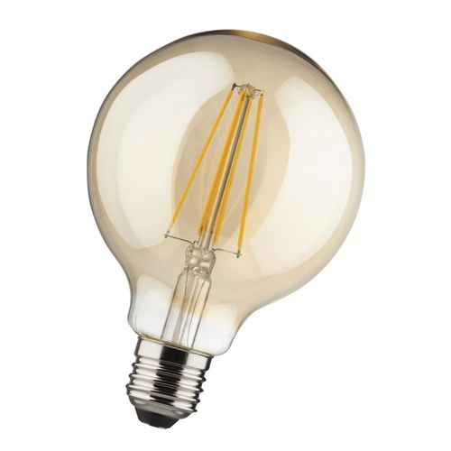 E27 LED 8 Watt dimmbar Globe warmweiss 2000K Glas Filament Retro 900 Lumen